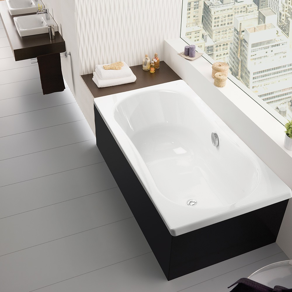 Emma square 1800 inset bath streamline products for Bath 1800