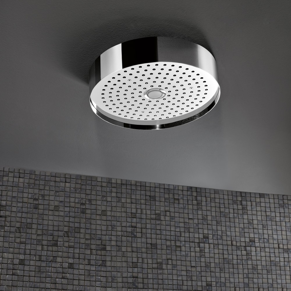 Round Ceiling Mounted Rain Shower With Light 320mm