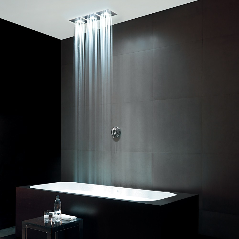 Isy Ceiling Mounted Shower With Self Power Light Streamline Products