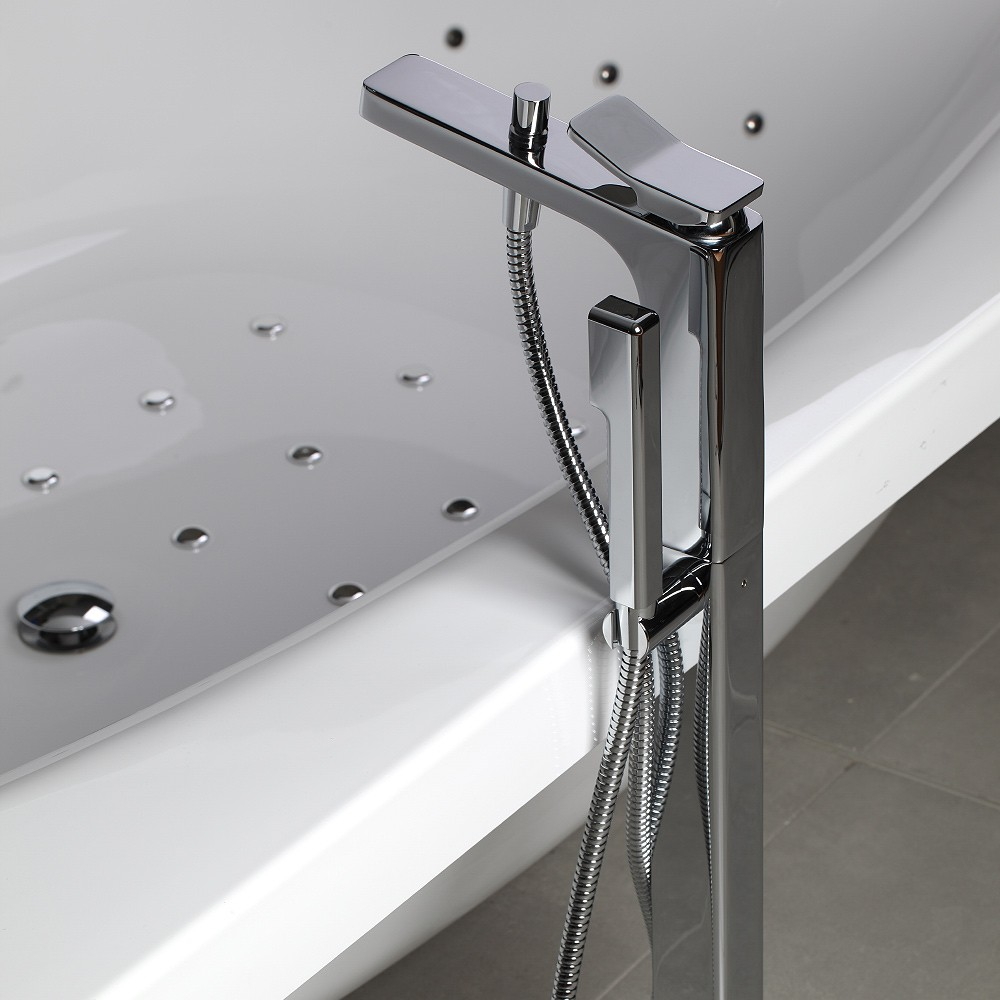 Soft Free Standing Bath Mixer With Hand Shower   Streamline Products