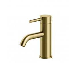 Axus Pin Lever Basin Mixer Brushed Brass PVD
