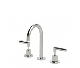 Axus Lever basin set - Brushed Nickel PVD