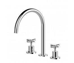 Axus Cross kitchen or laundry set with swivel spout