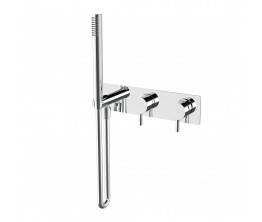 Axus Pin Shower mixer with diverter and handshower with plate