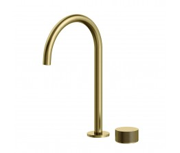 Vierra Basin mixer with Extended Height Spout - Brushed Brass PVD
