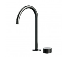 Vierra Basin mixer with Extended Height Spout - Brushed Gun Metal PVD