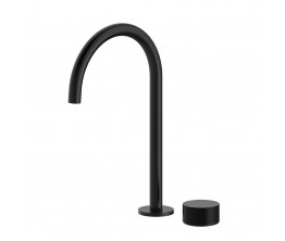 Vierra Basin mixer with Extended Height Spout - Matte Black
