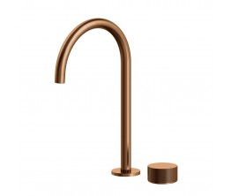 Vierra Basin mixer with Extended Height Spout - Brushed Rose Gold PVD