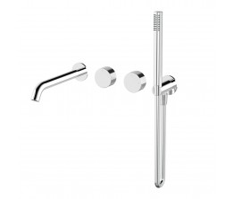 Vierra Twin mixer with handshower and 220mm spout