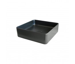 Xoni 400 Thin Square Above Counter Basin - Matte Black