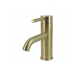 Axus Pin Lever Basin Mixer Brushed Brass PVD