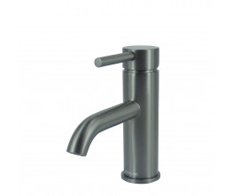 Axus Pin Lever Basin Mixer Brushed Gun Metal