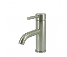 Axus Pin Lever Basin Mixer Satin Nickel