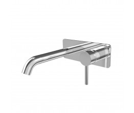 Axus Pin Lever Wall Mount Basin Mixer - 150mm spout