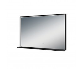 Kibo Mirror with Shelf - 900 x 700 - matte black frame