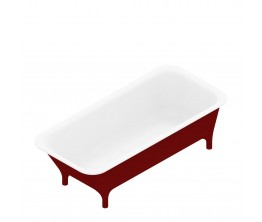 Morphing 1800 Red Freestanding Bath