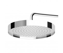 Zucchetti Round Shower Head With Edge Band On Wall Mounted Arm