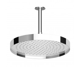 Zucchetti Round Shower Head With Edge Band On 300mm Ceiling Arm