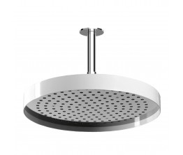 Zucchetti Round Shower Head With Edge Band On 130mm Ceiling Arm