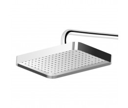 Zucchetti Shower Head 360X230mm With Edge Band On Wall Mounted Arm