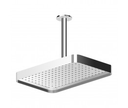Zucchetti Shower Head 360X230mm With Edge Band On 300mm Ceiling Arm