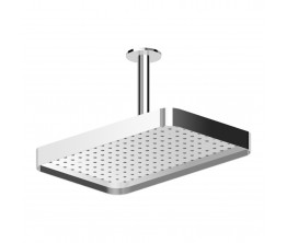 Zucchetti Shower Head 360X230mm With Edge Band On 130mm Ceiling Arm