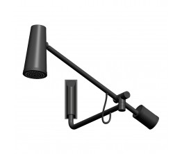 Closer Black Shower With Height Adjust Arm