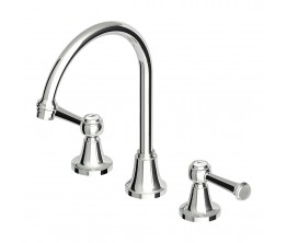 Agorà Classic Basin Set with Chrome Lever handles and High Spout