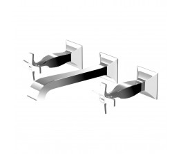 Zucchetti Bellagio Wall Mount Basin Tap Set