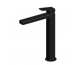 Zucchetti Jingle Basin Mixer With High Spout - Matte Black