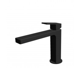 Zucchetti Jingle Basin Mixer With Extended Spout - Matte Black
