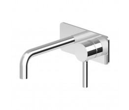 Zucchetti Pan wall tap Mixer With Plate 175mm Spout