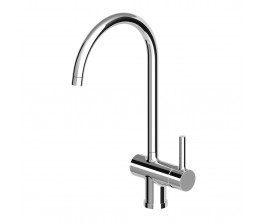 Zucchetti Pan Sink Mixer With High Arch Spout