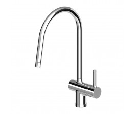 Zucchetti Pan Sink Mixer With Pull Out Nozzle