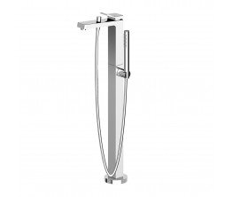 Zucchetti Soft Free Standing Bath Mixer With Hand Shower