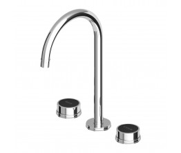 Zucchetti Savoir Basin Set High Spout Embossed Flange