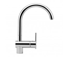 Zucchetti Spin Sink Mixer With High Arch Spout