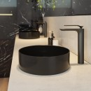 Xoni 400 Thin Round Above Counter Basin - Matte Black_Hero