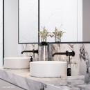 Axus Pin Lever Wall Mount Basin/Bath Mixer 2 plates_Hero