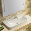 Gala Emma Square 80 Wall BasinAsymmetric Right Bowl _Hero