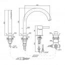 Zucchetti Pan Bath Mixer Set_Tech