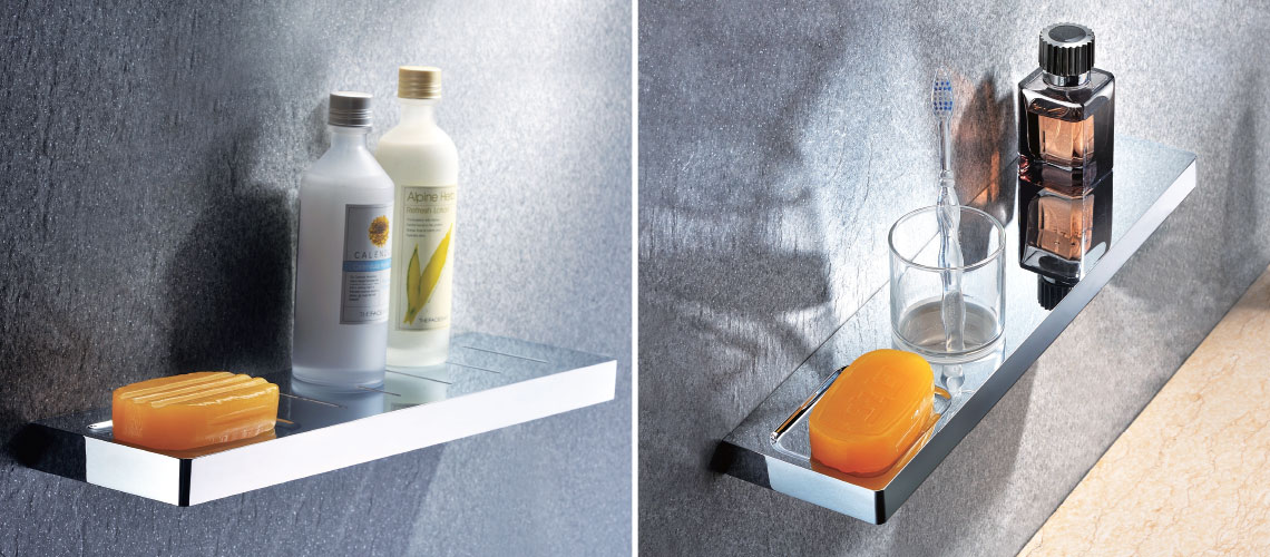 Shelves accessories bathroom streamline products for Bathroom 94 percent